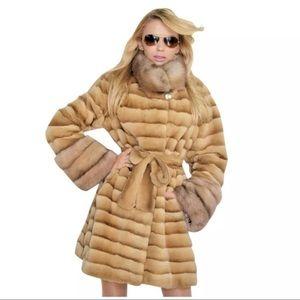 Jackets & Blazers - LaFuria semi shreded mink russian sable coat